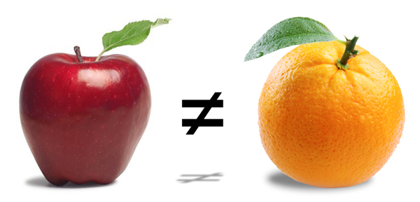 Apple-not-equal-to-orange